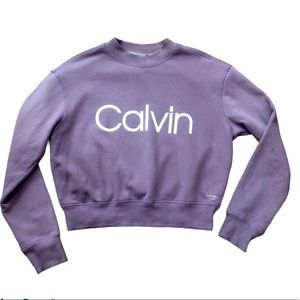 Calvin Klein Performance Mock Neck Cropped Sweater